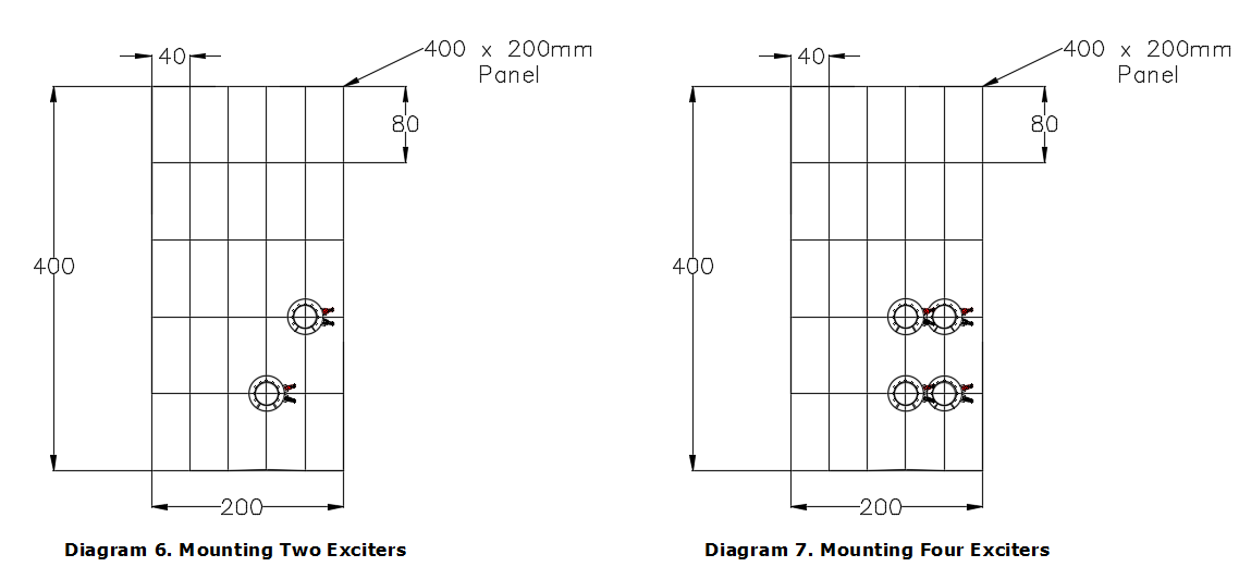 Mounting Multiple Exciters