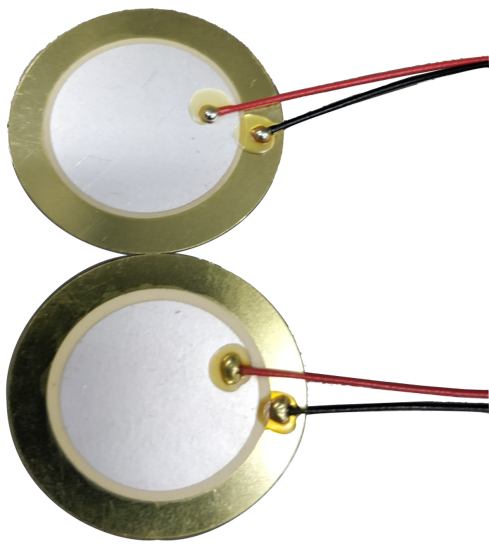 Piezo Benders with Soldered Lead Wires
